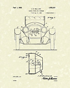 System Drawings Framed Prints - Turn Signals 1925 Patent Art Framed Print by Prior Art Design