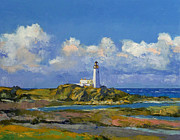 Modern Realism Oil Paintings - Turnberry Lighthouse by Michael Creese