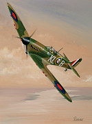 Plane Painting Prints - Turning For Home Print by Richard Wheatland