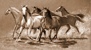 Sepia Pastels - Turning Out by Laura  Talbot