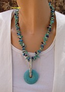 Featured Jewelry - Turquoies And Lapis Necklace by  Nurit Schlomi Von-starauss