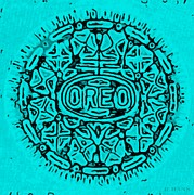Cookies Prints - Turquois Oreo Print by Rob Hans