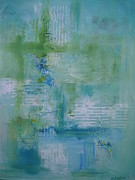 Karen Snider - Turquoise Abstract #1