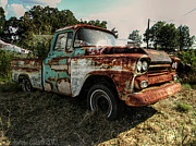 Chevrolet Pickup Truck Posters - Turquoise And Rust Poster by Andrew Carrell