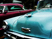 Bel Air Prints - Turquoise Bel Air Print by Susan Savad