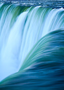 Turquoise Blue Waterfall Print by Peta Thames