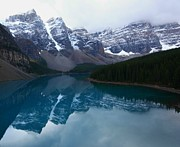 Banff Prints - Turquoise reflection at Moraine Lake Print by Jetson Nguyen