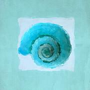 Turquoise Seashells IIi Print by Lourry Legarde