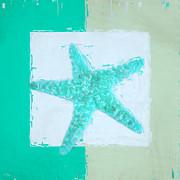 Turquoise Seashells Ix Print by Lourry Legarde
