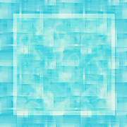 Random Shape Prints - turquoise square 12-November-2012 Print by Igor Kislev
