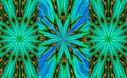 Starz Digital Art - Turquoise Starz by Suzeee Creates