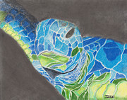 David Jackson - Turtle in Blue and Green
