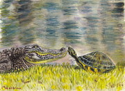 Plain Air Paintings - Turtle Kiss by Evgeniya Mashkina