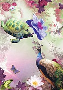 Emily Campbell - Turtle with Purple Flower