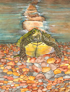 Mississippi River Scene Posters - Turtles Endless Journey Poster by Catherine Basten