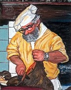 Wild Boar Paintings - Tuscan Chef by Frank Giordano