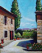 Italian Landscape Prints - Tuscan Colors Print by Eve  Wheeler