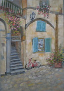 Bicycles Paintings - Tuscan Delight by Mohamed Hirji