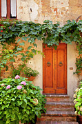 Front Steps Photos - Tuscan Door by Brian Jannsen