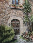 Tuscan Doorway La Parrina Print by Melinda Saminski