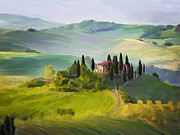 Tuscan Hills Framed Prints - Tuscan Dream Framed Print by Judith Huth