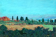 Tuscan Farm Print by Allan P Friedlander