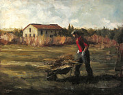 Daily Painter Prints - Tuscan Farmer II Print by Christopher Clark