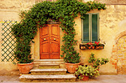 Front Steps Photos - Tuscan Front Door by Brian Jannsen