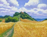 Tuscan Hills Paintings - Tuscan High 24 x 30 by Michael Swanson