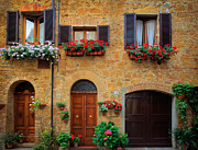 Architecture Metal Prints - Tuscan Homes Metal Print by Inge Johnsson