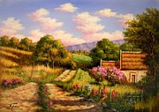 Landscapes Of Tuscany Paintings - Tuscan landscape ts5 by Salvatore Telese