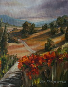 Lisa Phillips Owens Painting Prints - Tuscan Morning Print by Lisa Phillips Owens