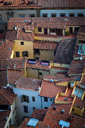 Rooftop Prints - Tuscan Rooftops Print by Inge Johnsson