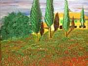Poppies Field Paintings - Tuscan Slip by Joseph Birt