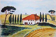 Siena Paintings - Tuscan spring by Christine Huwer
