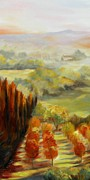 Chris Brandley Paintings - Tuscan Sunrise by Chris Brandley