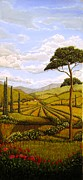 Tuscan Landscapes Paintings - Tuscan Valley painting by Arthur Morehead