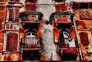 Tuscany Digital Art - Tuscan Villa in Verona by Greg Sharpe