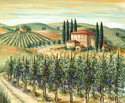 Tuscan Vineyard And Villa Print by Marilyn Dunlap