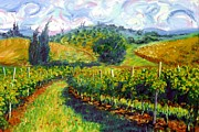 Tuscan Hills Painting Framed Prints - Tuscan Wind Framed Print by Michael Swanson