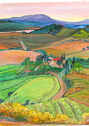 Iconic Paintings - Tuscany Farm by Michell Givens