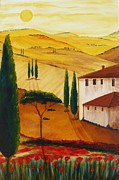 Cypress Art - Tuscany-Idyll 3 by Christine Huwer