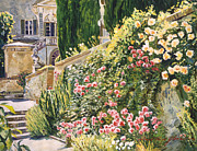 Gardenscape Paintings - Tuscany Impressions by David Lloyd Glover
