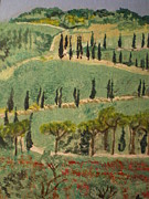 Ann Fellows Framed Prints - Tuscany landscape Framed Print by Ann Fellows