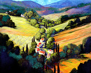 Tuscan Landscapes Paintings - Tuscany by Michael Swanson
