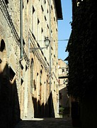 Narrow Streets Prints - Tuscany Shadows 2 Print by Mel Steinhauer