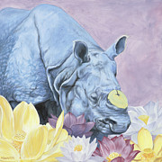 Rhinoceros Unicornis Framed Prints - Tusk Framed Print by Sarah Soward