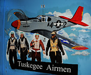 Mural Photos - Tuskegee Airmen by Leon Hollins III