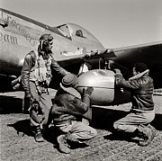 Black History Photos - Tuskegee Preflight by Benjamin Yeager