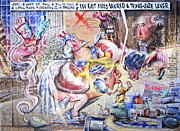 George Bush Originals - Tutoring Uncle Sam by Larry Kaiser